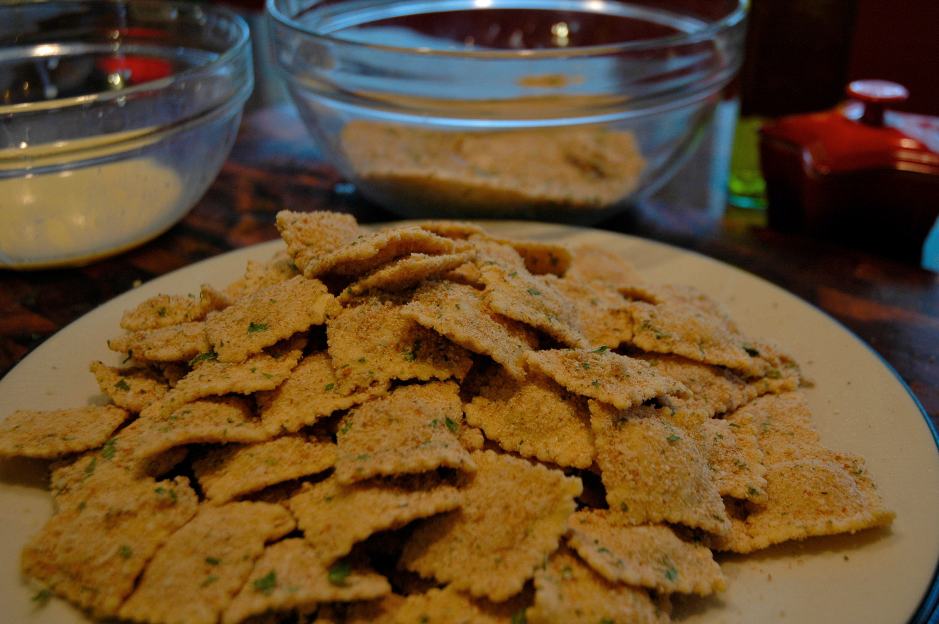 ... Toasted Ravioli with Marinara Dipping Sauce « Sarah's Musical Kitchen