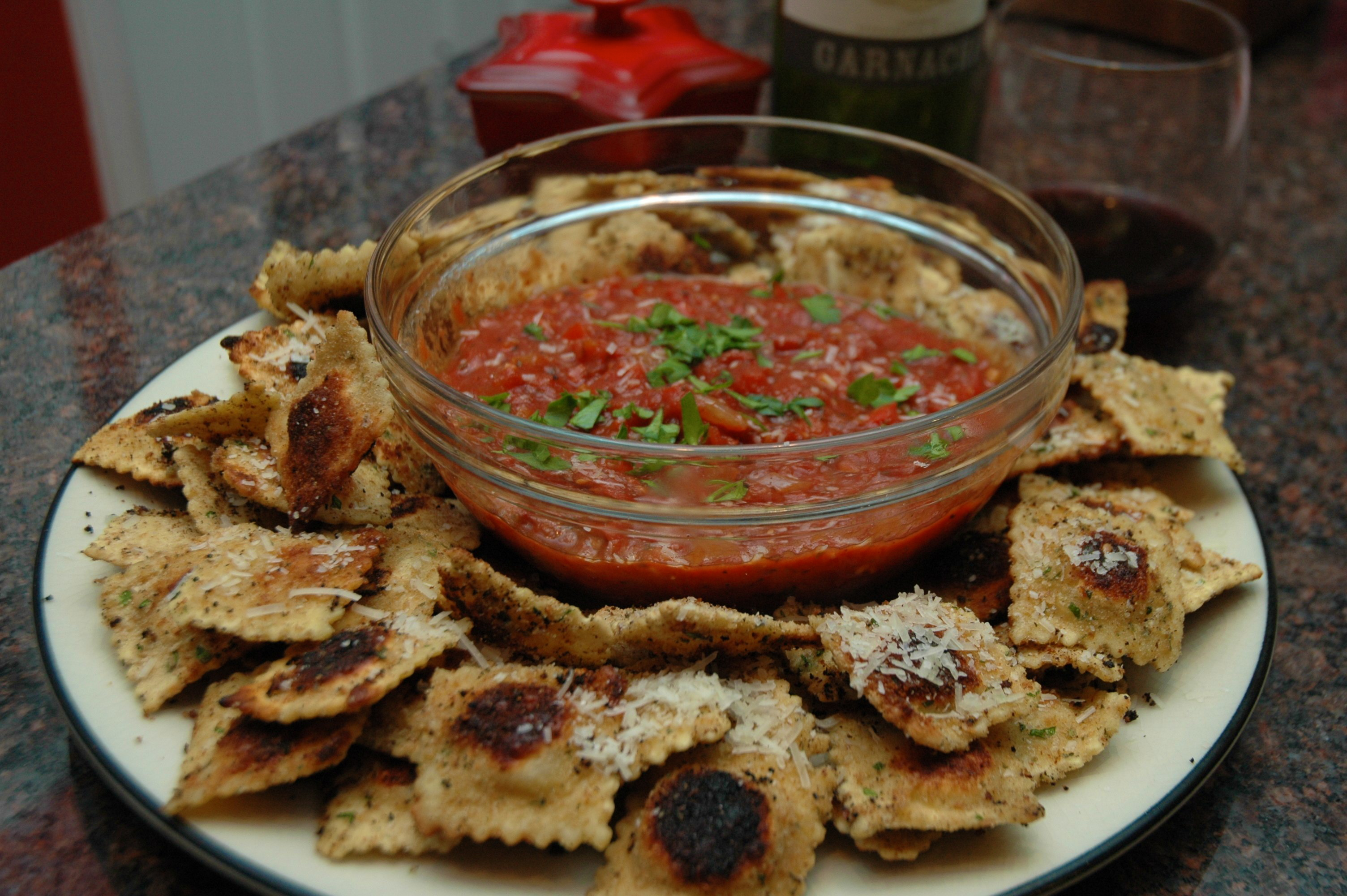 Snackin' with Sarah Sellers: Toasted Ravioli with Marinara ...