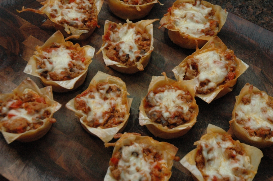 Lasagna Cups with Spicy Ground Turkey