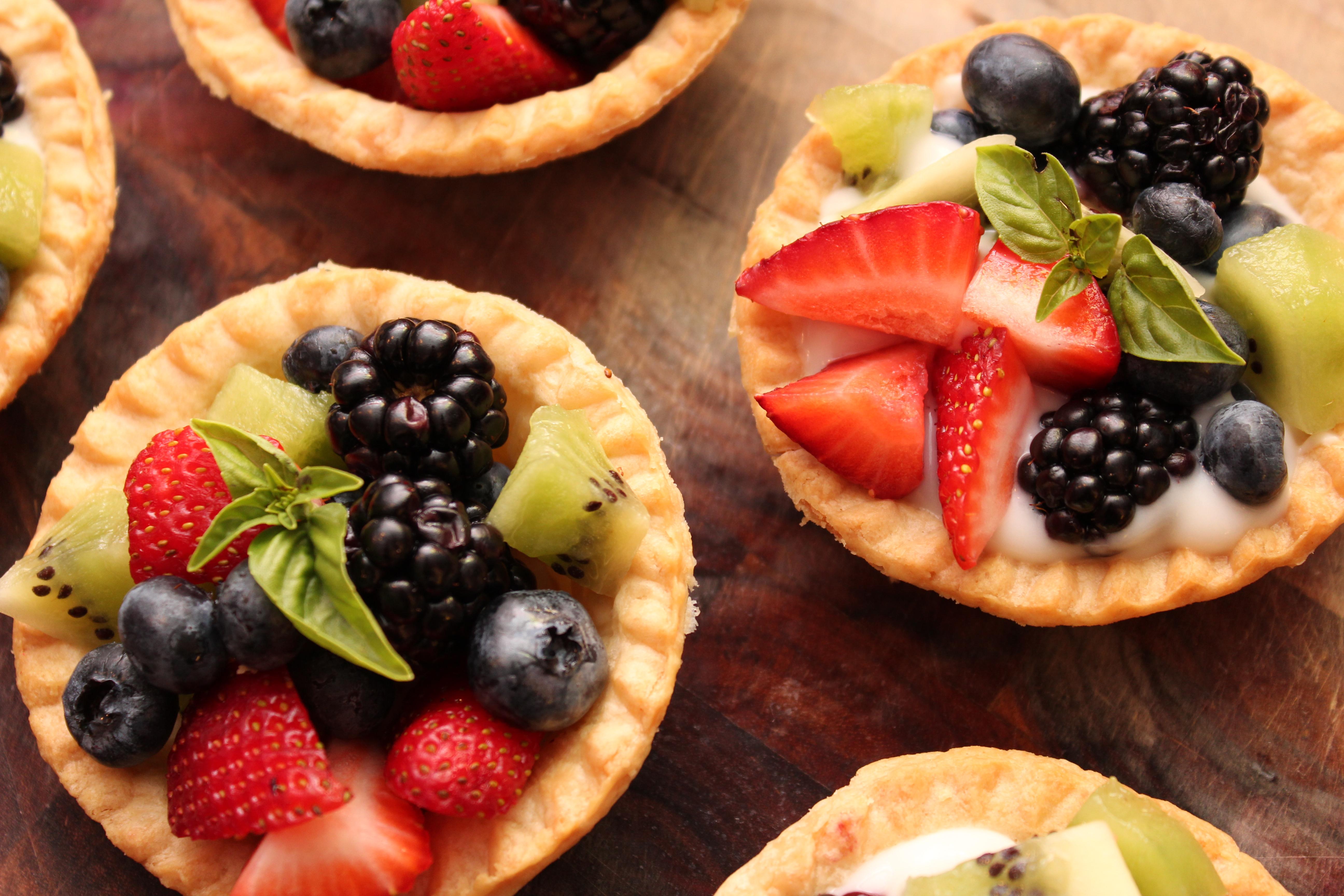 Basil Fruit Tarts with Creamy Yogurt « Sarah's Musical Kitchen