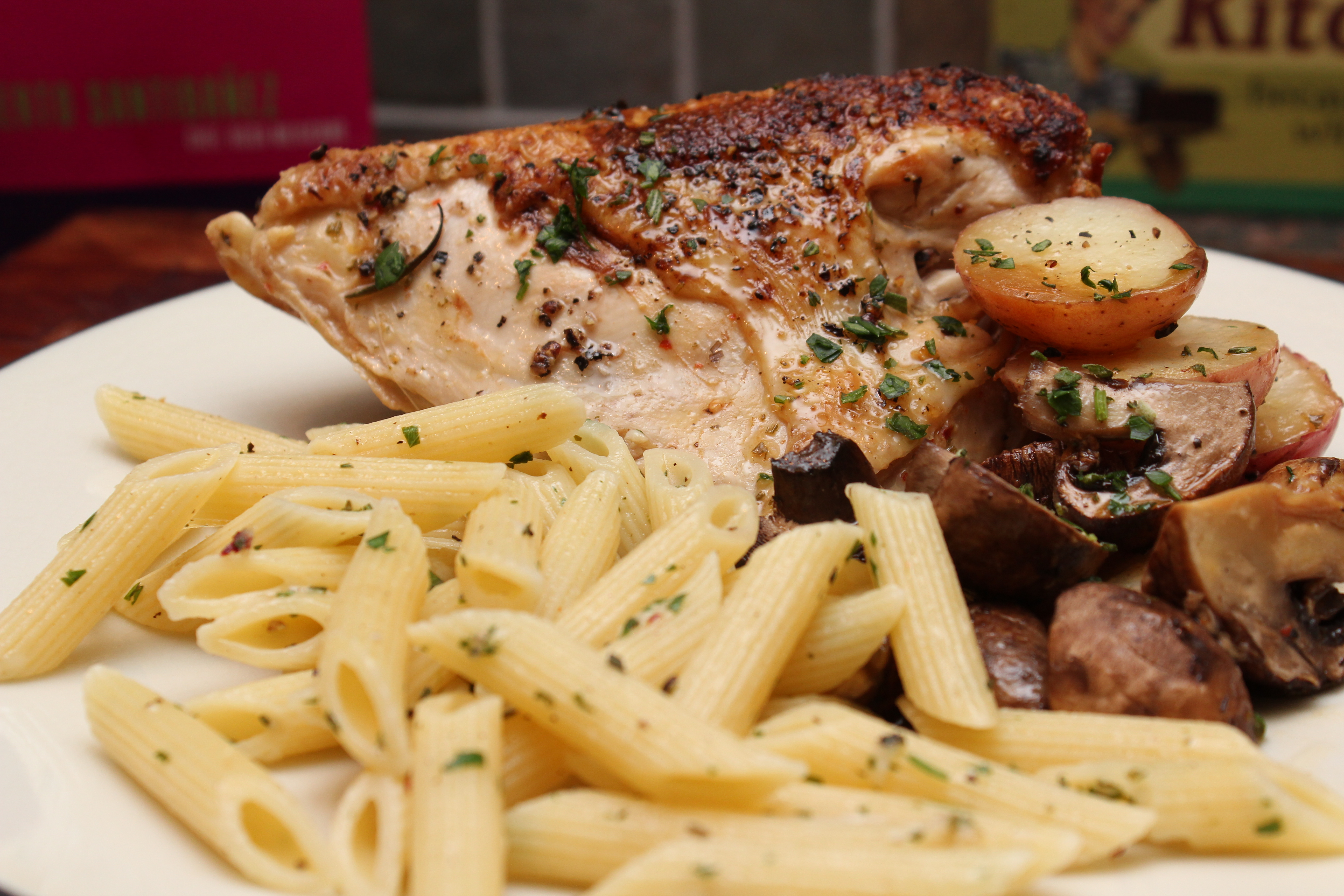 Skillet roasted chicken with lemon herb pasta sarahs musical skillet roasted chicken with lemon herb pasta ccuart Gallery
