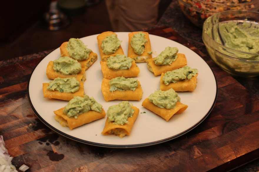 Crispy Enchilada Minis with Rotisserie Relish