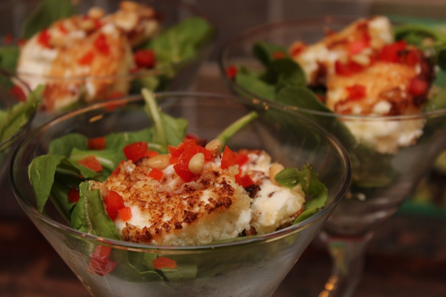 Toasted Goat Cheese with Honey