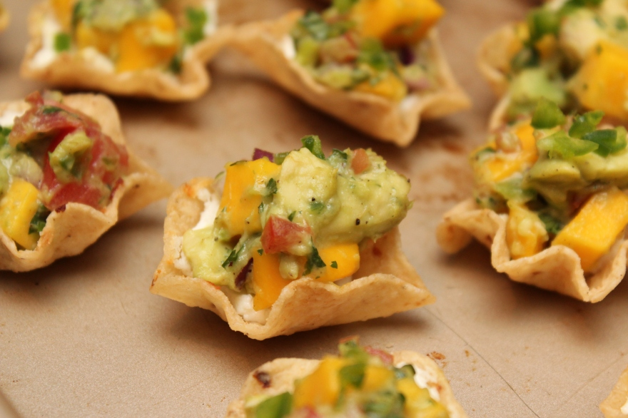 Goat Cheese and Mango Nachos