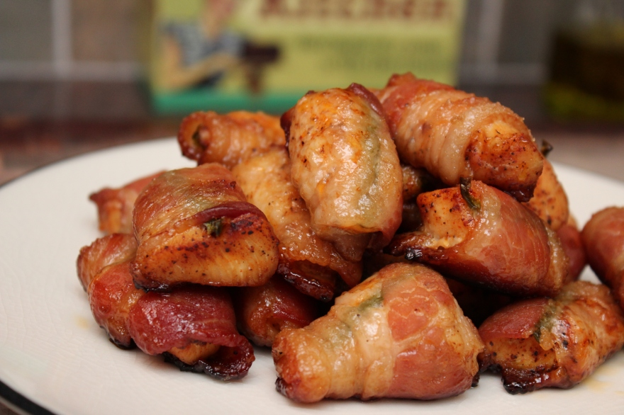 Spicy Bacon Wrapped Chicken Bites