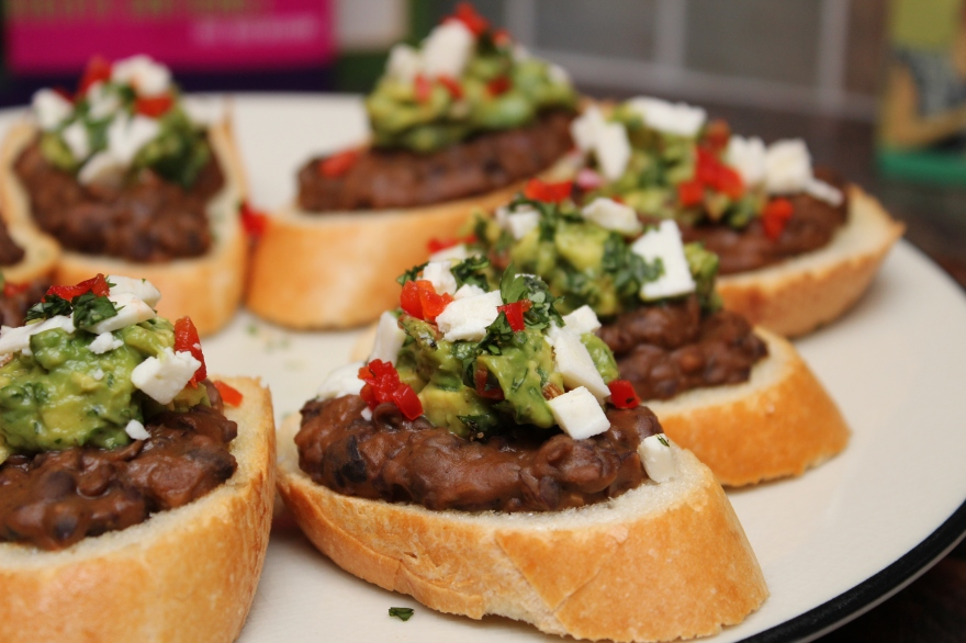 Black Bean Bruschetta