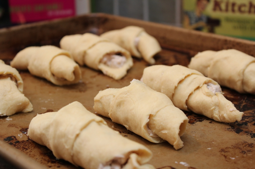 Chocolate Cream Cheese Crescent Rolls