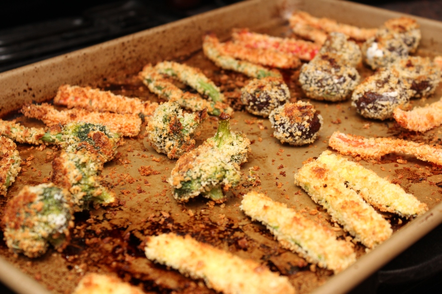 Panko-Crusted Veggies with Chipotle Ranch