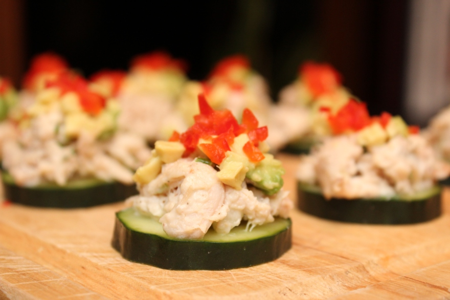 Rotisserie Chicken and Cucumber Bites