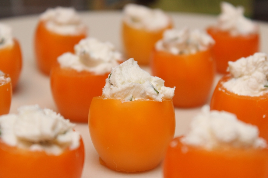 Goat Cheese-Stuffed Cherry Tomatoes