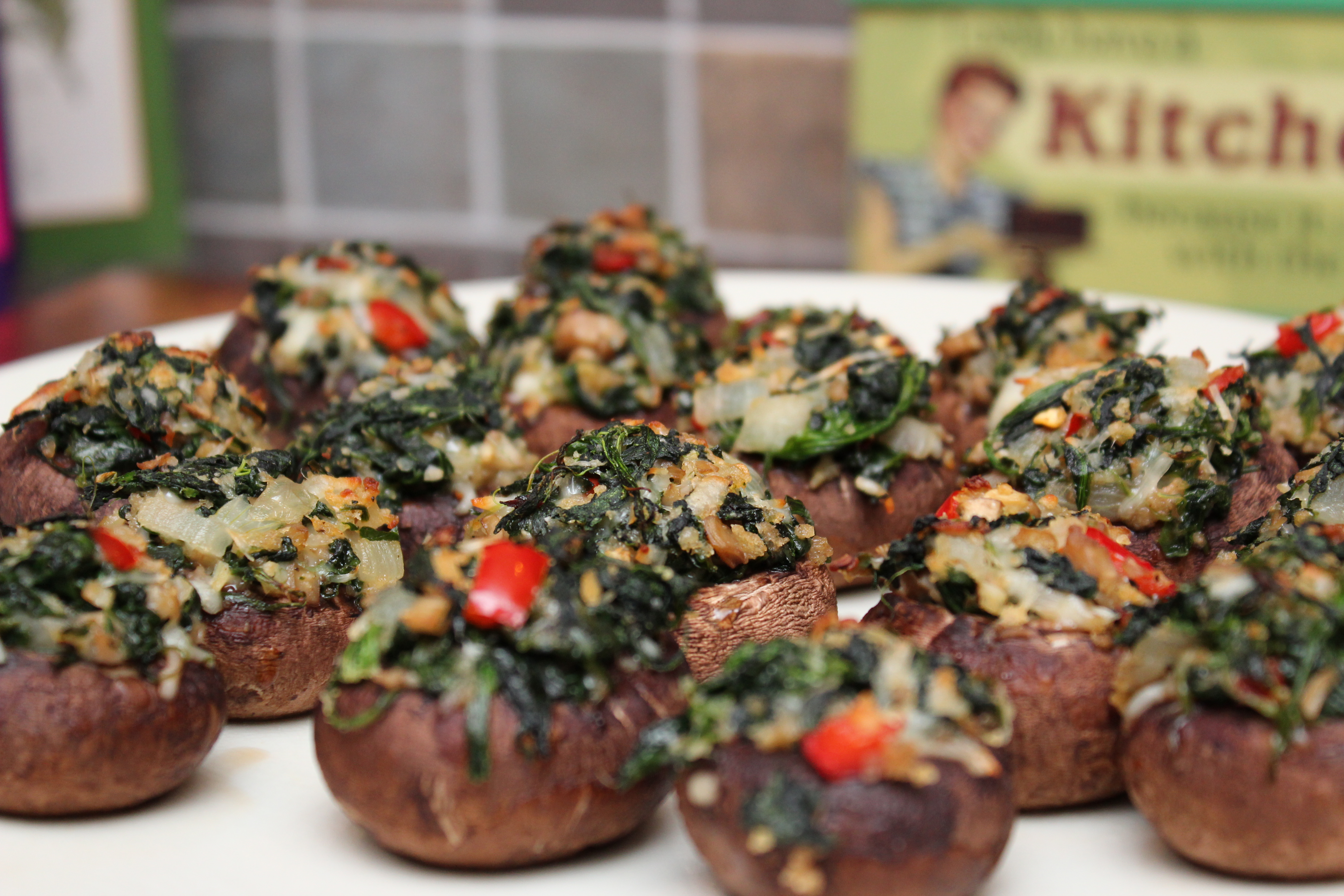 ... Sarah Sellers: Spinach Stuffed Mushrooms « Sarah's Musical Kitchen