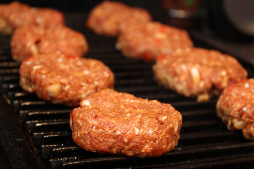 Mini Bunless Turkey Burgers