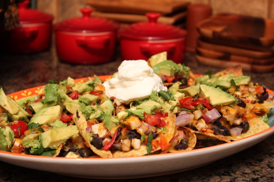Southwest Chicken & Black Bean Nachos